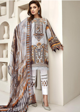 Farasha Embroidered Lawn Unstitched 3 Piece Suit FSH20L 08 SUNDAZE BLAZE - Spring / Summer Collection