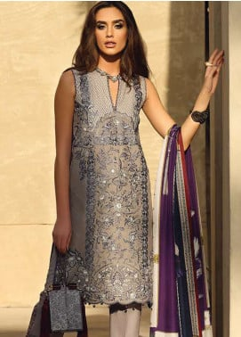 Faraz Manan Embroidered Pima Cotton Unstitched 3 Piece Suit FZM19L 14 - Spring / Summer Collection