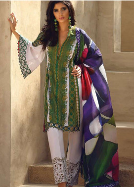 Faraz Manan Embroidered Pima Cotton Unstitched 3 Piece Suit FZM19L 19 - Spring / Summer Collection