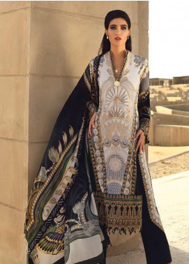 Faraz Manan Embroidered Pima Cotton Unstitched 3 Piece Suit FZM19L 20 - Spring / Summer Collection