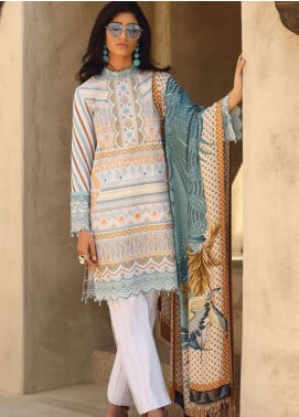 Faraz Manan Embroidered Pima Cotton Unstitched 3 Piece Suit FZM19L 6 - Spring / Summer Collection