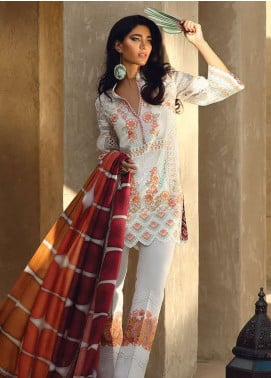Faraz Manan Embroidered Pima Cotton Unstitched 3 Piece Suit FZM19L 8 - Spring / Summer Collection