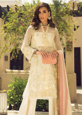 Faraz Manan Embroidered Organza Unstitched 3 Piece Suit FZM19LX 01 - Luxury Collection