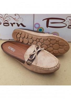 Fashionholic Casual Style   Shoes 6561 Light Cream Bow