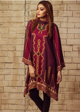 Fateh Printed Viscose Unstitched Kurties FS-0065 - Winter Collection