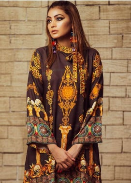 Fateh Printed Viscose Unstitched Kurties FS-0067 - Winter Collection