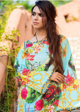 Fateh Printed Lawn Unstitched Kurties FT19-S6 FS-204 - Formal Collection