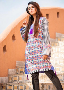 Fateh Printed Lawn Unstitched Kurties FT19-S6 FS- 205 - Formal Collection