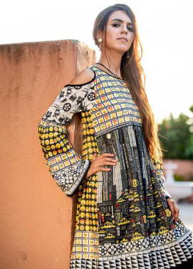 Fateh Printed Lawn Unstitched Kurties FT19-S6 FS- 207 - Formal Collection