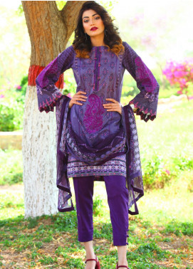 Fateh Embroidered Lawn Unstitched 3 Piece Suit FT19L FS-0136 - Mid Summer Collection