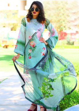 Fateh Embroidered Lawn Unstitched 3 Piece Suit FT19L FS-0137 - Mid Summer Collection