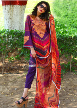 Fateh Embroidered Lawn Unstitched 3 Piece Suit FT19L FS-0138 - Mid Summer Collection