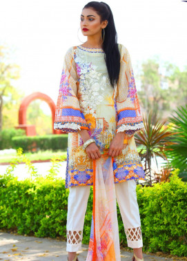 Fateh Embroidered Lawn Unstitched 3 Piece Suit FT19L FS-0140 - Mid Summer Collection