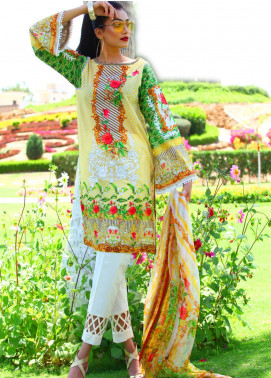Fateh Embroidered Lawn Unstitched 3 Piece Suit FT19L FS-0141 - Mid Summer Collection