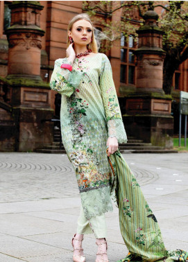 Fateh Printed Lawn Unstitched 2 Piece Suit FT19OR FS-0183 - Mid Summer Collection