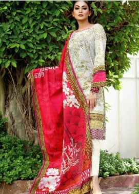 Fateh Printed Lawn Unstitched 2 Piece Suit FT19OR FS-0188 - Mid Summer Collection