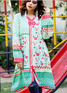 Fateh Printed Lawn Unstitched Kurties FT19-S5 FS-0174 - Mid Summer Collection