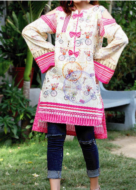 Fateh Printed Lawn Unstitched Kurties FT19-S5 FS-0175 - Mid Summer Collection