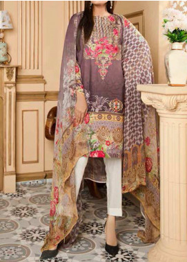 Fatiha by Zebaish Embroidered Linen Unstitched 3 Piece Suit ZSH20F 01 - Winter Collection