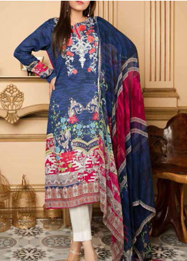 Fatiha by Zebaish Embroidered Linen Unstitched 3 Piece Suit ZSH20F 02 - Winter Collection