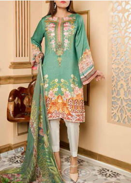 Fatiha by Zebaish Embroidered Linen Unstitched 3 Piece Suit ZSH20F 03 - Winter Collection