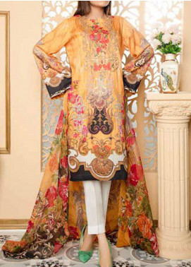 Fatiha by Zebaish Embroidered Linen Unstitched 3 Piece Suit ZSH20F 04 - Winter Collection