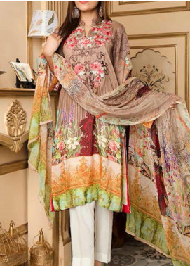 Fatiha by Zebaish Embroidered Linen Unstitched 3 Piece Suit ZSH20F 05 - Winter Collection