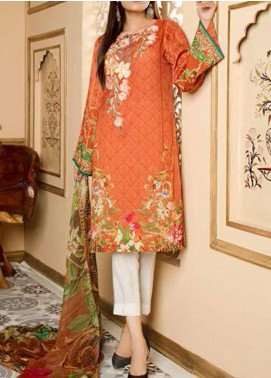 Fatiha by Zebaish Embroidered Linen Unstitched 3 Piece Suit ZSH20F 08 - Winter Collection