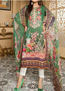 Fatiha by Zebaish Embroidered Linen Unstitched 3 Piece Suit ZSH20F 09 - Winter Collection