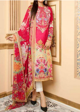 Fatiha by Zebaish Embroidered Linen Unstitched 3 Piece Suit ZSH20F 10 - Winter Collection
