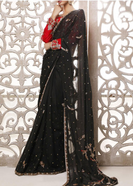 Fayon Embroidered Chiffon Stitched Saree FN-FK150 Arisha