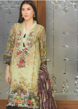 Firdous Fashion Embroidered Lawn Unstitched 3 Piece Suit FF18E 12A - Mid Summer Collection