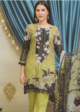 Firdous Fashion Embroidered Lawn Unstitched 3 Piece Suit FF18E 13A - Mid Summer Collection