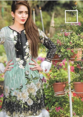 Firdous Fashion Embroidered Lawn Unstitched 3 Piece Suit FF18E 13B - Mid Summer Collection