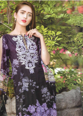Firdous Fashion Embroidered Lawn Unstitched 3 Piece Suit FF18E 14A - Mid Summer Collection
