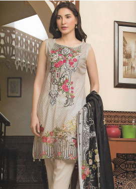 Firdous Fashion Embroidered Lawn Unstitched 3 Piece Suit FF18E 15A - Mid Summer Collection