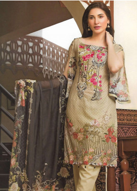 Firdous Fashion Embroidered Lawn Unstitched 3 Piece Suit FF18E 15B - Mid Summer Collection