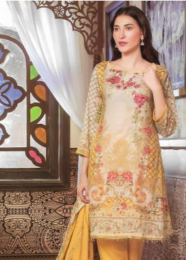 Firdous Fashion Embroidered Lawn Unstitched 3 Piece Suit FF18E 16B - Mid Summer Collection