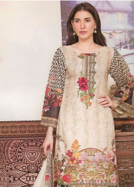 Firdous Fashion Embroidered Lawn Unstitched 3 Piece Suit FF18E 17B - Mid Summer Collection