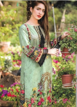 Firdous Fashion Embroidered Lawn Unstitched 3 Piece Suit FF18E 18A - Mid Summer Collection