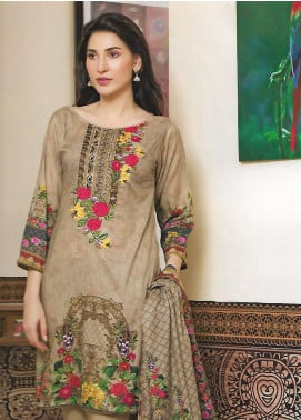 Firdous Fashion Embroidered Lawn Unstitched 3 Piece Suit FF18E 18B - Mid Summer Collection