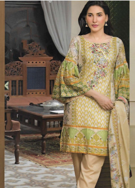 Firdous Fashion Embroidered Lawn Unstitched 3 Piece Suit FF18E 5B - Mid Summer Collection