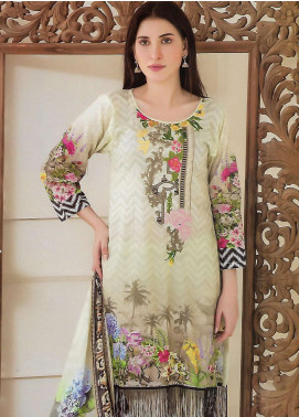 Firdous Fashion Embroidered Lawn Unstitched 3 Piece Suit FF18E 6A - Mid Summer Collection