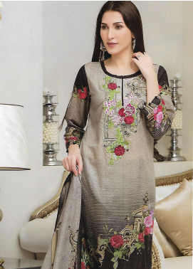 Firdous Fashion Embroidered Lawn Unstitched 3 Piece Suit FF18E 9B - Mid Summer Collection