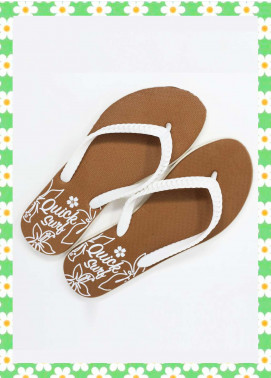 Brown Rubber Ladies Flip Flops FF18W 02