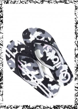 Grey Rubber Ladies Flip Flops FF18W 04