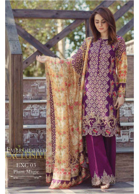 Firdous Fashion Embroidered Lawn Unstitched 3 Piece Suit FI17L 03
