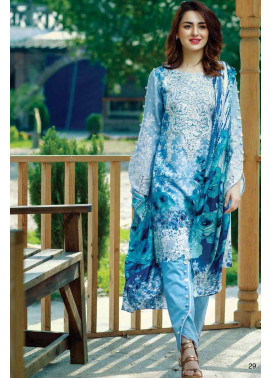 Firdous Fashion Embroidered Lawn Unstitched 3 Piece Suit FI17L 05