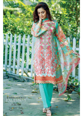 Firdous Fashion Embroidered Lawn Unstitched 3 Piece Suit FI17L 08