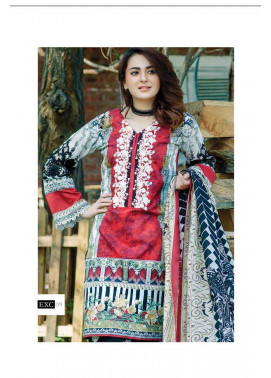 Firdous Fashion Embroidered Lawn Unstitched 3 Piece Suit FI17L 09